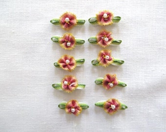 Peach Ombre Flowers 2119D