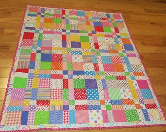 BRIGHT AND CUTE! Lap Quilt for Young or Old
