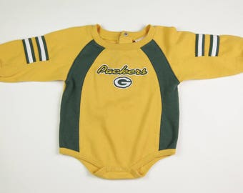 Vintage NFL Football Green Bay Packers Baby/Toddler Onesie, Size 18 Months