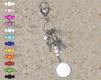 Medium round cabochon 20 mm for dancer keychain or bag charm