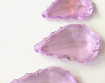 5 Lilac French 50mm Chandelier Crystals Pendant Prisms