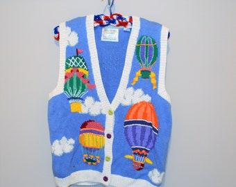 Hot Air Balloon Vintage Vest