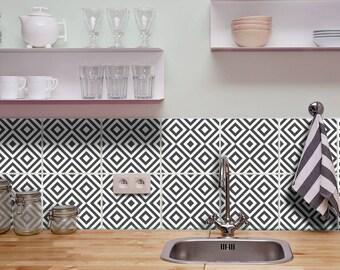 Fliesenfolie Küche fliesenaufkleber für bad küchen deko fliesen folie