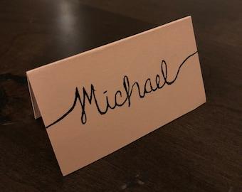 Hand Written Wedding Placecards