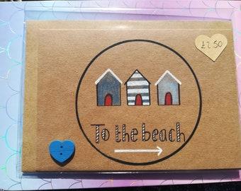 To the beach card