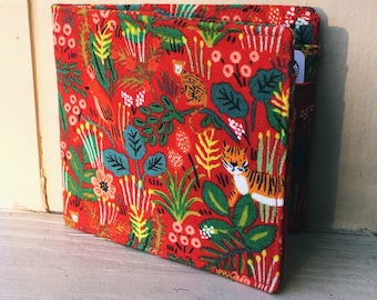 Slim Cotton Red Jungle Print Wallet