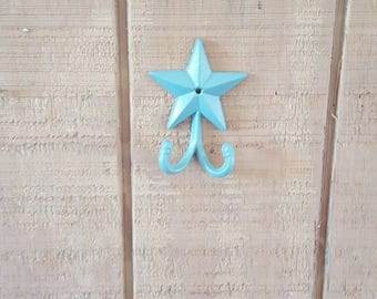 Star Double Hook, Cast Iron Star, Coat Hook, Rustic Hook, Cabin Decor, Farmhouse Decor, Entryway Decor, Towel Hook, Towel Rack, Cabin Hook