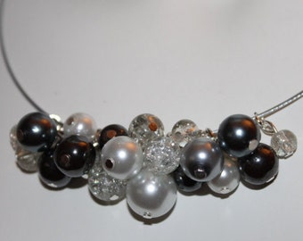 Silver Pearl Jewelry, silver pearl necklace, Pearl Jewelry Silver, Pearl Necklace Silver, silver beaded necklace, silver beaded jewelry