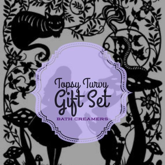 Topsy Turvy Gift Set - Wonderland Collection - 6pcs Bath Creamer