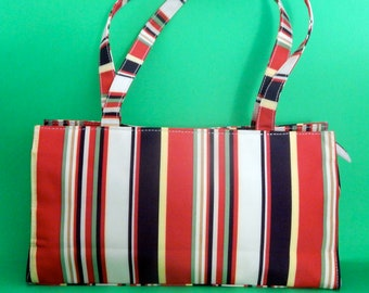 Circus Striped Purse now reduced 20 percent