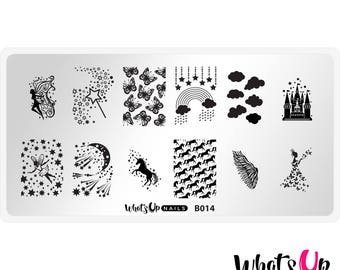 B014 Magical Playground Stamping Plate For Stamped Nail Art Design