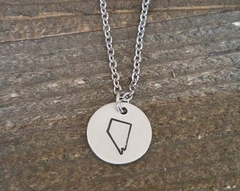 NEVADA hand stamped necklace