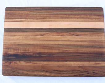 Beautiful Teak and Hard Maple cutting board