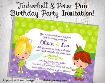 tinkerbell invitation wording ideas