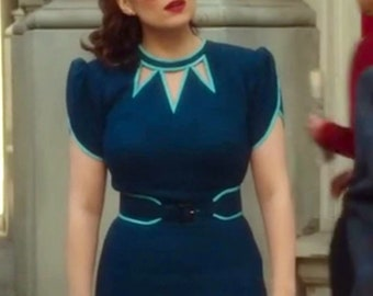 Agent Carter cosplay inspired custom made  dress retro