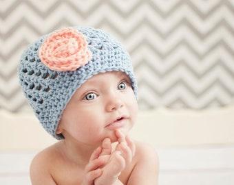 girls hat, baby hat, crochet hat, crochet kids hat, crochet  crochet hat with flower baby girl winter hat, girl hat, girls winter hat