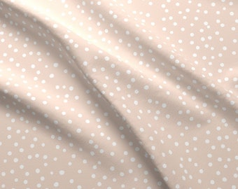 White Dots On Pink Fabric -Dotty Dusky Pink {Large} By Katherine Quinn- Dots Spots Geometric Pink Cotton Fabric By The Yard With Spoonflower