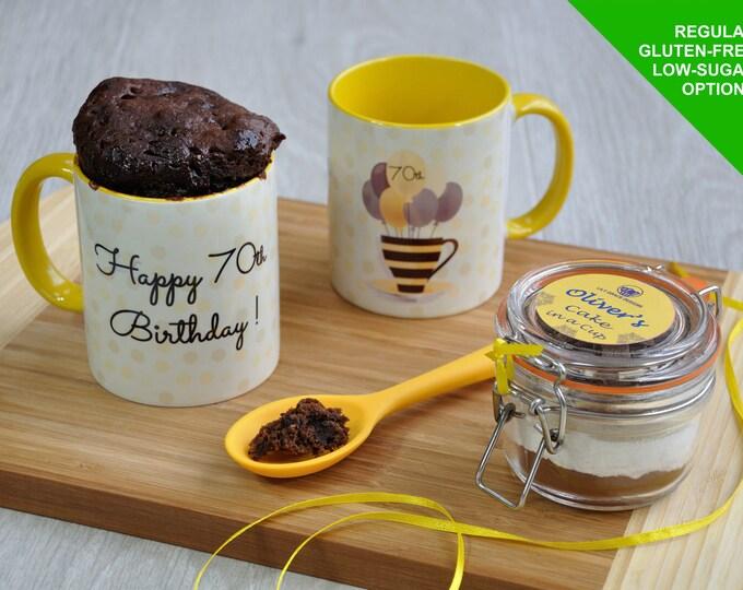 70 today, mug cake, 70th birthday gift, happy 70th, 70th cake, baking birthday gift, 70th mug, happy birthday, birthday cake, 70 gift