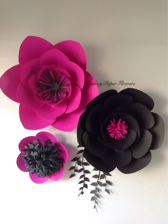 Luxury black paper flowers inspiration best evening gown items similar to paper flowers backdrop paper flower wallbackdrop mightylinksfo