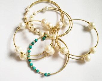 bracelet, bracelet with pearls, handmade bracelets