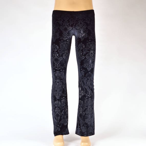 Vampire Velvet Flare Pants // Great Costume // Soft Velvet brocade // Burning Man Costume
