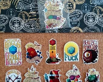 D&D stickers