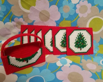 Christmas Coaster Set-7pc