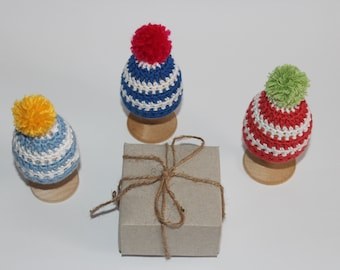 Easter gift 3 knitted hats eggs knit hats for decor knit easter gift knit hats for eggs decor easter hats knit egg warmers knit negle Gallery