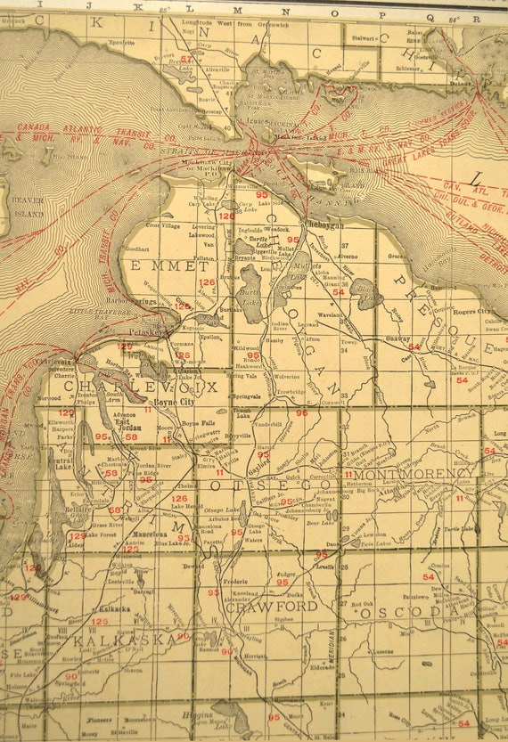 Michigan map extra large southern michigan map railroad publicscrutiny Image collections