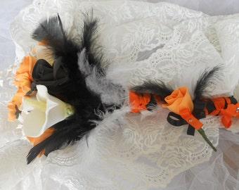 Bouquet de mariée (ou autre) sur le thème d'Halloween