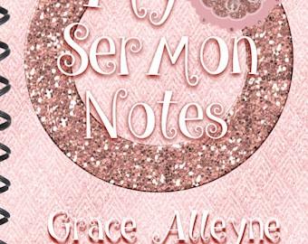 Girls Sermon Note Taking Book, Sermon Notes, Church Journal, Girls Sermon Notes