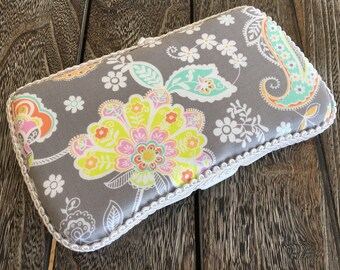 Floral Baby Wipes Case, Travel Wipes Case, Small Wipe Case, Floral Nursery