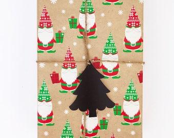 christmas tree gift tags - chalkboard