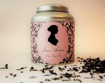 Jane Austen Tea Caddy Gift - Literary Tea Collection - Tea Gift - Literary Tea Gift - Bookish Gift - Author Gift- Loose Leaf Tea - Tea