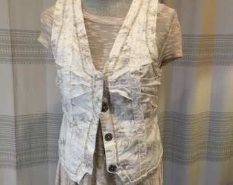 Burning man, cool stitched, ruffle, lagenlook, country Vest