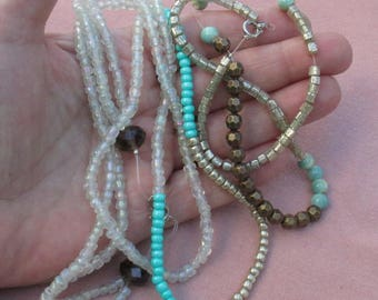 Lot Of Beaded Necklaces Restring Repurpose
