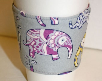 Colorful Elephants Coffee Sleeve