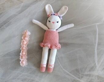 Bunny -Bunny Rabbit -Ballerina Doll -Bunny Plushie -Ballerina Bunny -Crochet Bunny -Easter Bunny