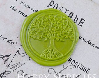 Buy 1 Get 1 Free - 1pcs The Tree of Life Gold Plated Wax Seal Stamp (WS321)