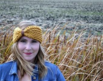 Couvre-oreilles pour grosse laine tricot bandeau turban tricoté bandeau Suède turbans en tricot d'hiver douillet mixte bandeau accessoire à la main en tricot