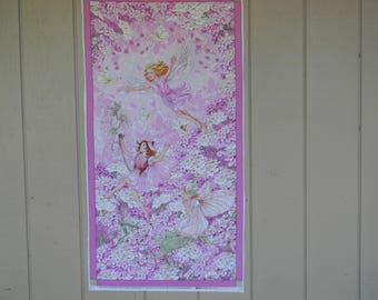 Petal Fairies Panel Cotton Fabric by Michael Miller Fabrics