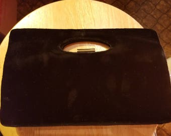 Black Velvet, 1950's Clutch, Purse, Handbag