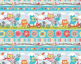BPA FREE Splat splash Mat, Food mat for highchair or table cloth, Happy Party Owls, on the way scooters, bikes, laminated cotton, BPA Free