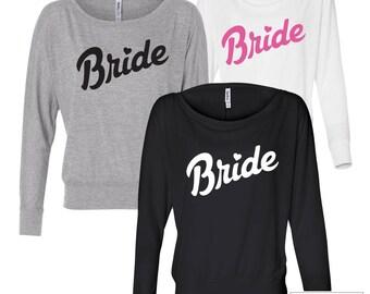 Bride Long-sleeve Shirt / Bride T-Shirt / Bride Long-Sleeve T-Shirt / Bride to be shirt / Women's Flowy Long Sleeve Tee / 116