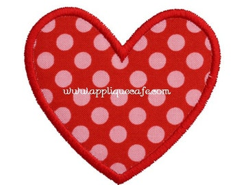 564 Mini Valentine Heart  Machine Embroidery Applique Design