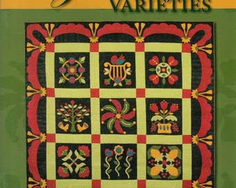 Ozark Varieties Quilt Patterns by Kathy Kansier Circle of Love, Tree of Life, Heart Strings Nine Block Patterns