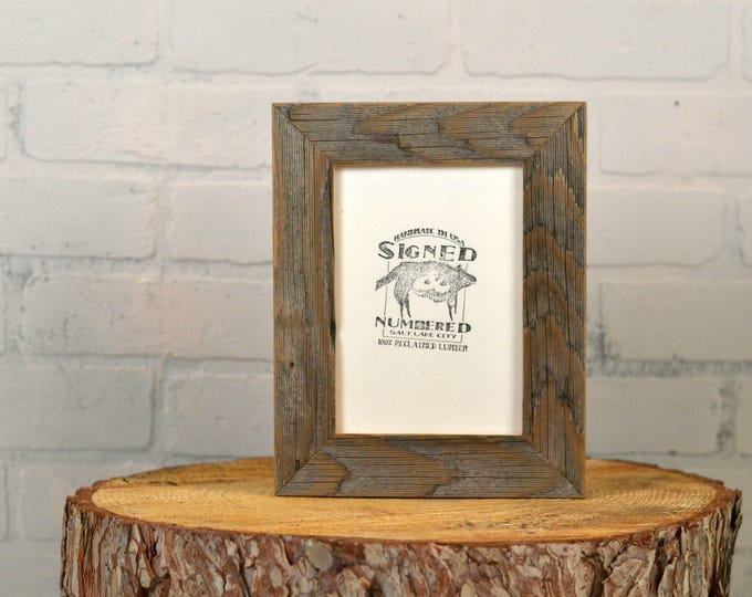 """5x7 inch Picture Frame in 1.5"""" Wide Rustic Natural Reclaimed Cedar Fence Wood - IN STOCK - Same Day Shipping"""