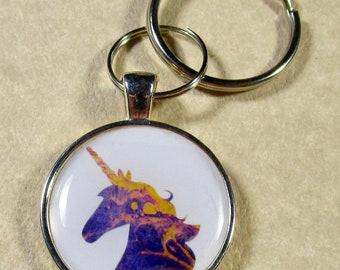 Unicorn Keychain, Unicorn Key Fob, Unicorn Key Ring, Unicorn Gifts, Unicorn Lover Gifts, Fantasy Keychain, Fantasy Key Fob