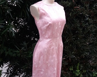 Cotton Candy Kisses Vintage Pink Wiggle Dress