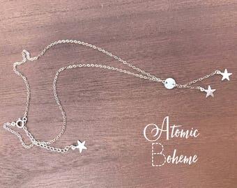 Celestin- hand hammered star charm necklace